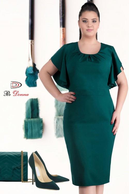 Rochie eleganta verde Carola