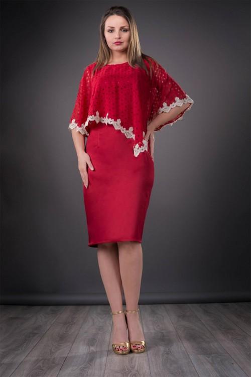 Rochie eleganta rosie Elvira
