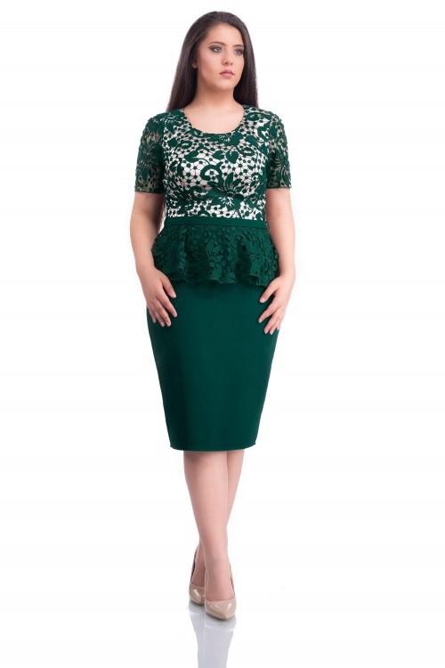 Rochie eleganta verde Agapia