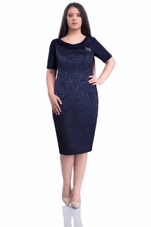 Rochie de zi bleumarin Dorina
