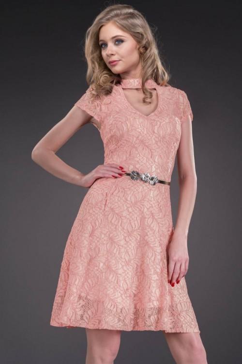 Rochie eleganta capucino...