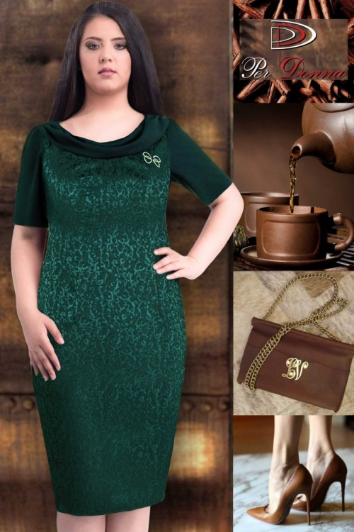 Rochie eleganta verde Dorina