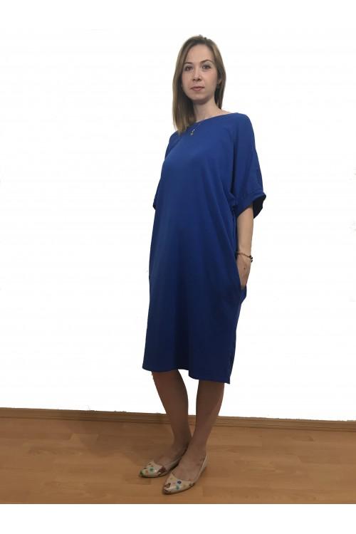 Rochie de zi albastru regal...
