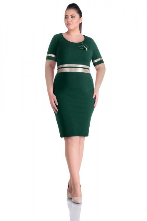 Rochie verde eleganta Aniela