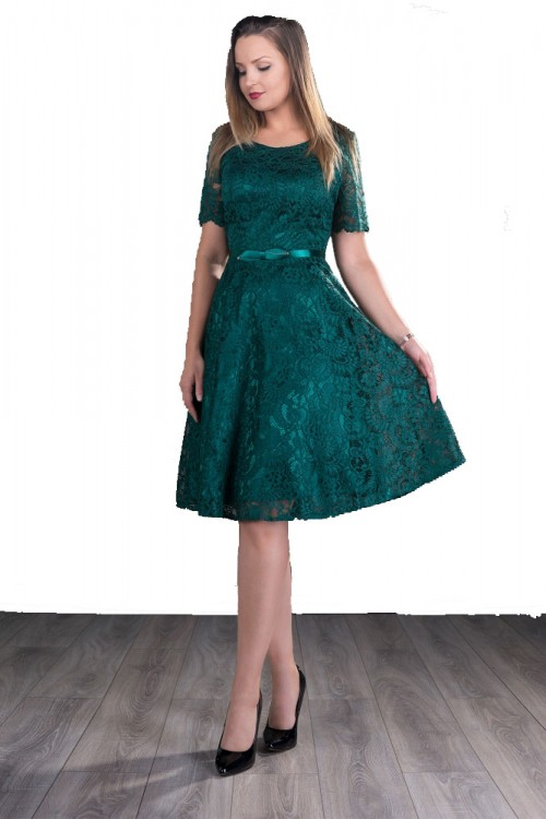Rochie dantela verde Arabela