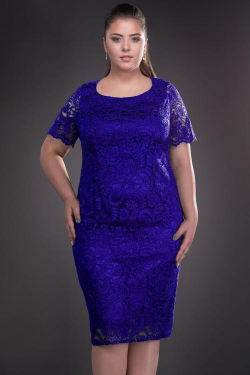Rochie albastra din dantela...