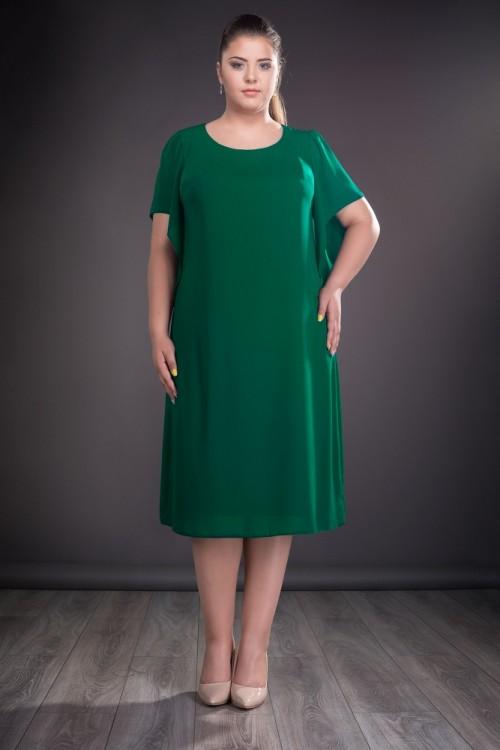 Rochie verde din voal Casiana