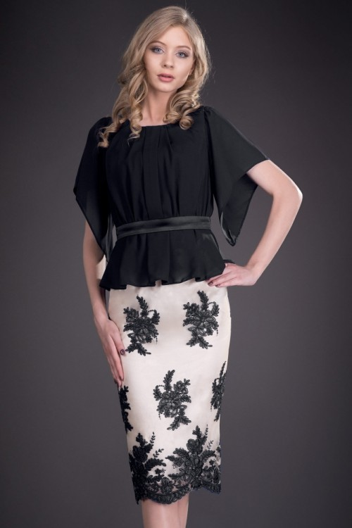 Rochie eleganta cu peplum...