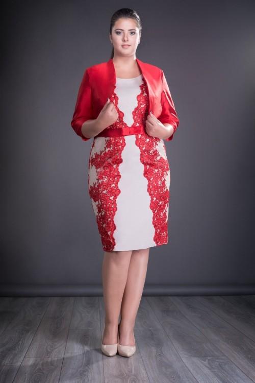 Compleu dama elgant rosu Ailin