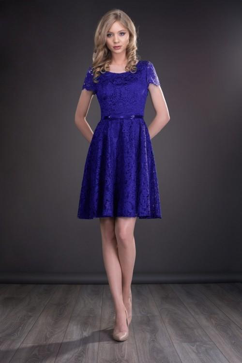 Rochie dantela albastru...