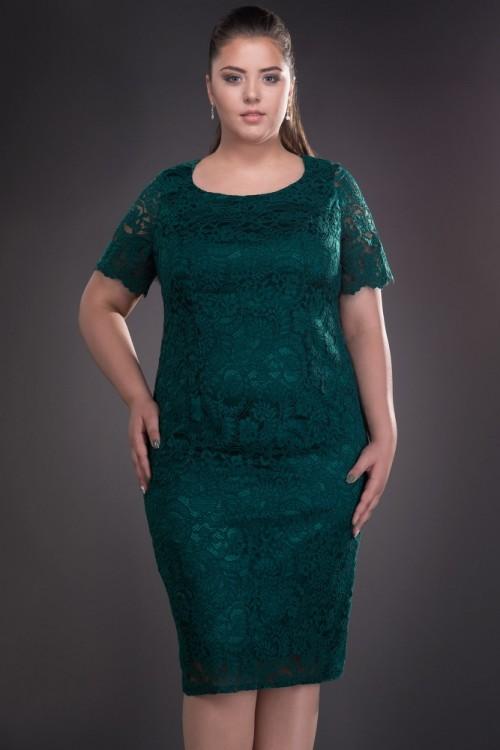 Rochie verde din dantela Iulia