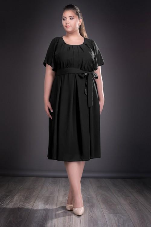 Rochie de zi din voal negru...