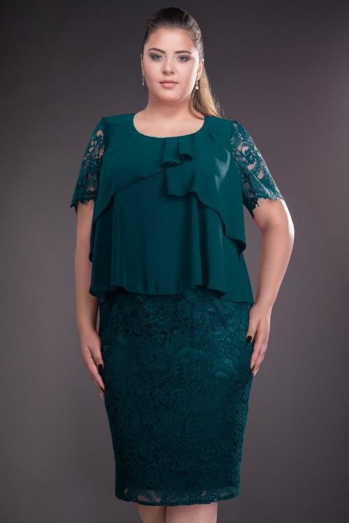 Rochie verde din dantela Mona