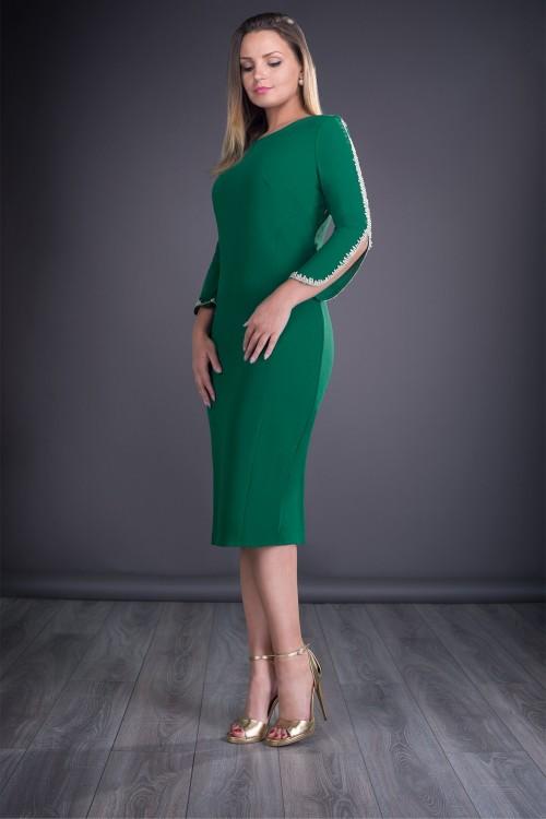 Rochie verde eleganta Otilia