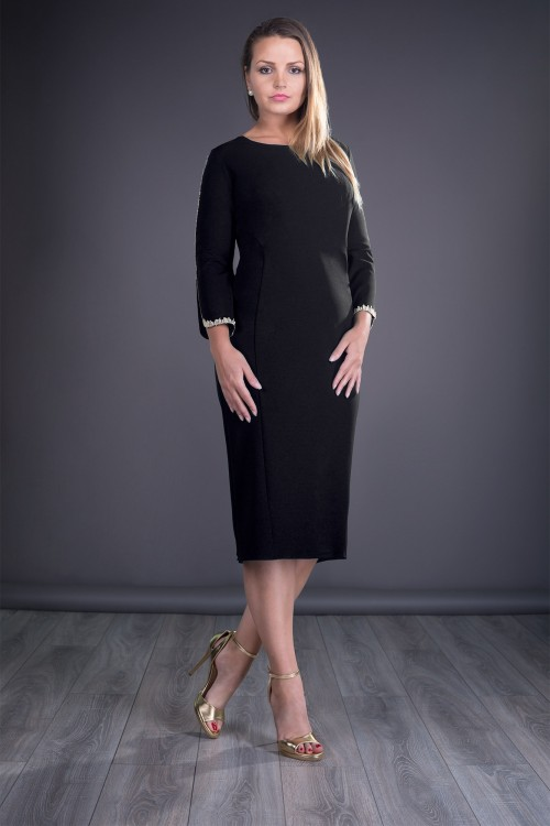 Rochie neagra eleganta Otilia