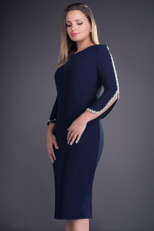 Rochie de zi bleumarin Otilia