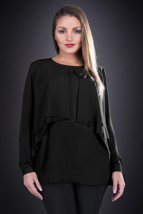 Bluza eleganta neagra Mileva