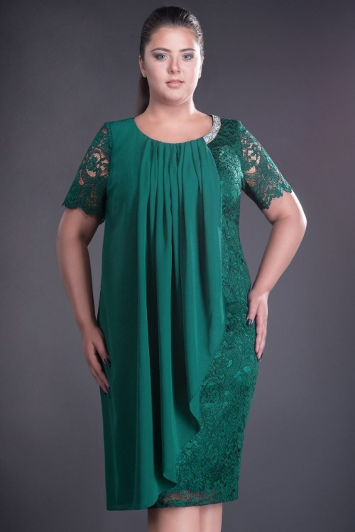 Rochie verde din dantela Ruana