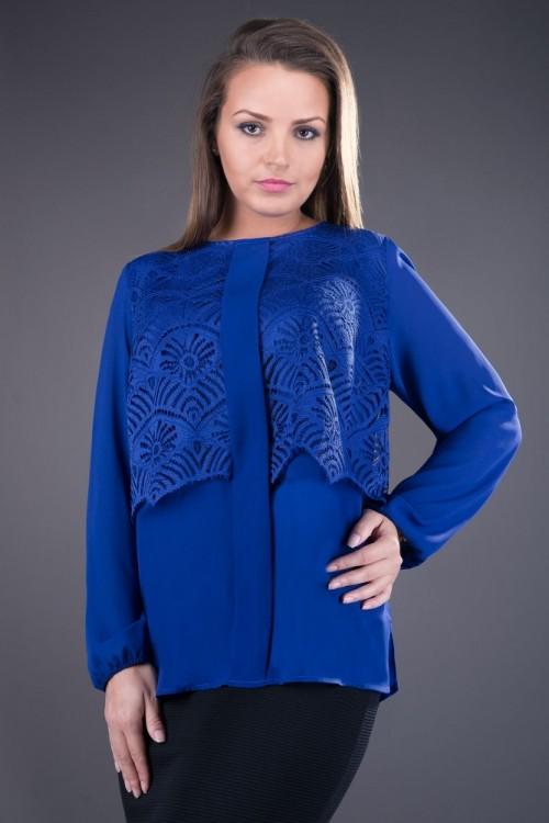 Bluza eleganta albastra Ofelia