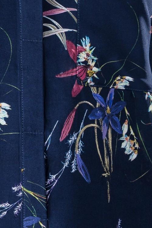 Bluza stil camasa bleumarin...