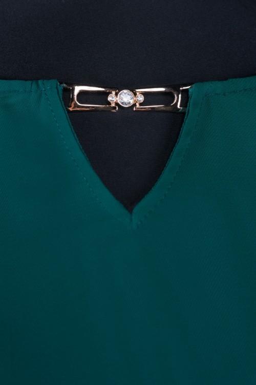 Bluza eleganta verde Dora