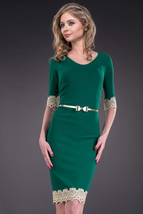 Rochie conica verde cu...