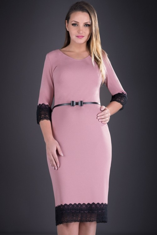Rochie eleganta roz pal Manuca