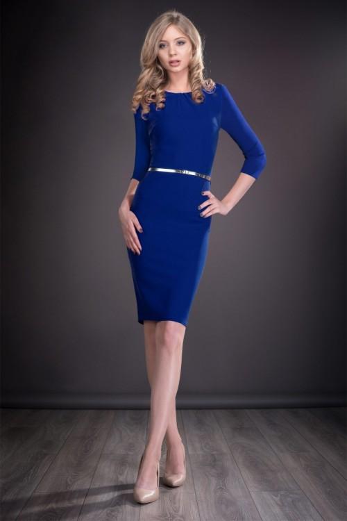 Rochie albastra pana la...