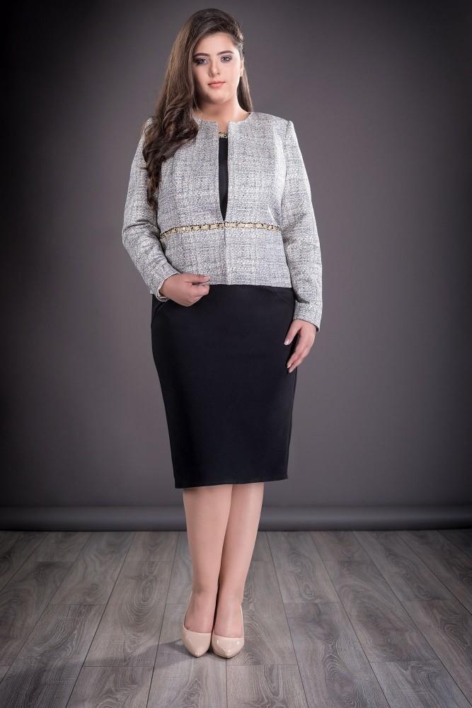 site web pentru reducere Cel mai bun vânzare online Compleu dama negru cu sacou gri Olivia