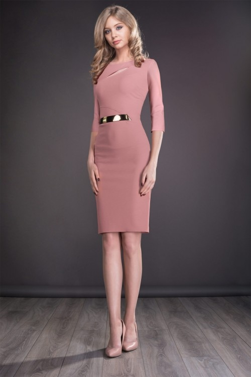 Rochie midi roz pal Tasia