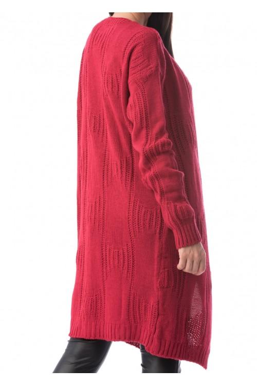Cardigan dama rosu Fabio