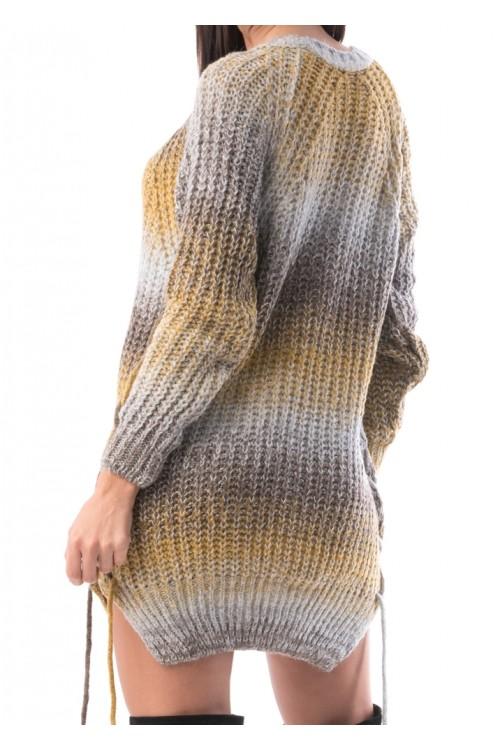 Pulover dama lung Zibra