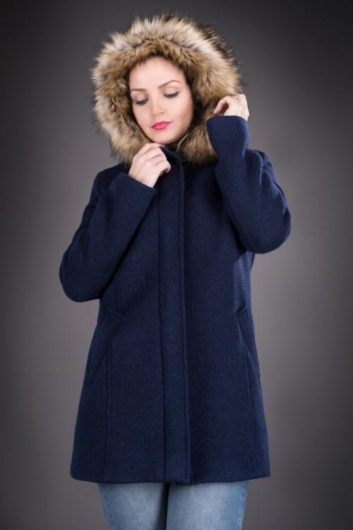Palton dama bleumarin cu...