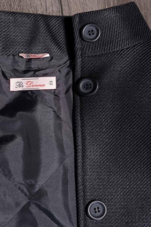 Palton dama negru Suzana