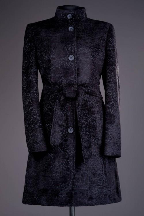 Palton dama negru din stofa...