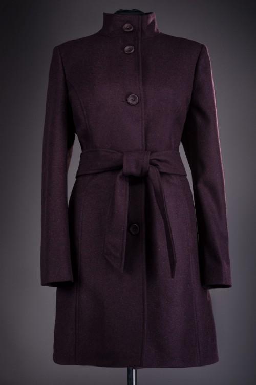 Palton dama elegant bordo...