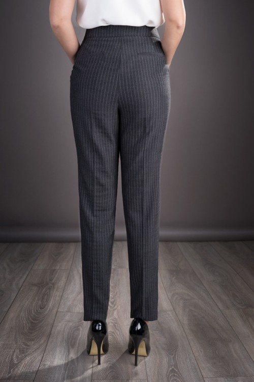 Pantaloni dama office gri...