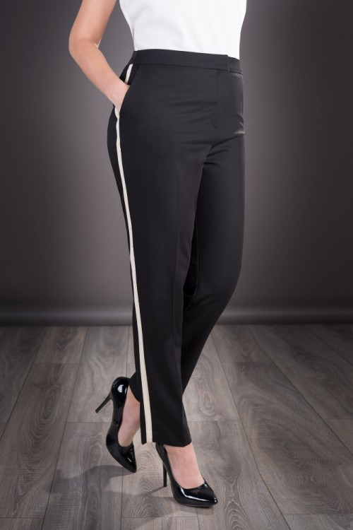 Pantaloni dama negri cu...
