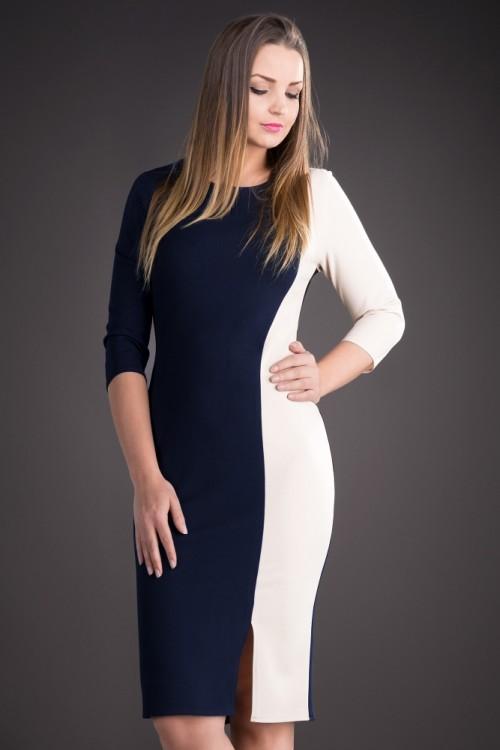 Rochie de zi bleumarin...
