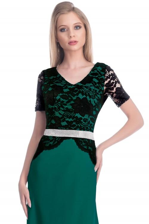 Rochie lunga de seara verde...