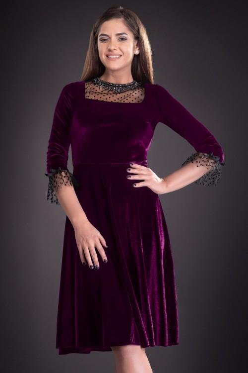 Rochie eleganta mov din...