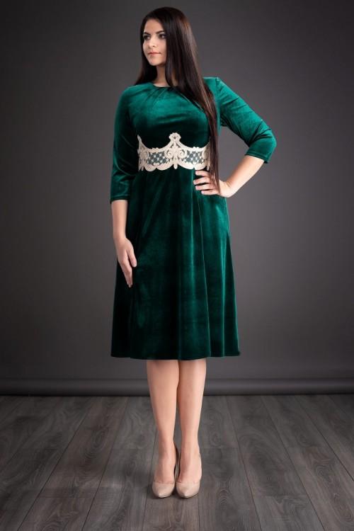 Rochie verde din catifea...