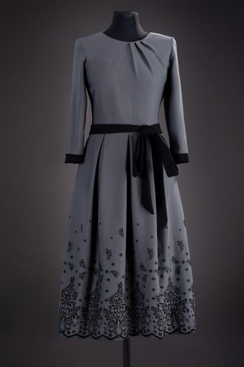 Rochie eleganta gri Dalia