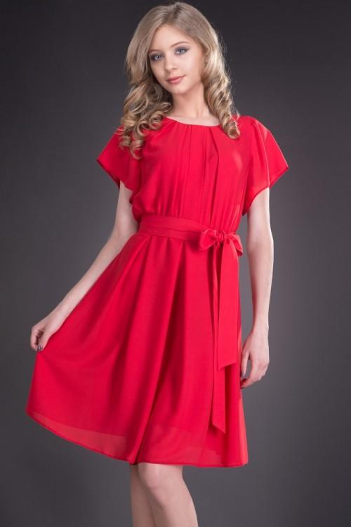 Rochie din voal rosu Tania