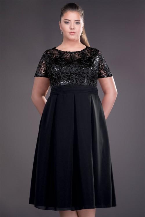 Rochie neagra eleganta in...