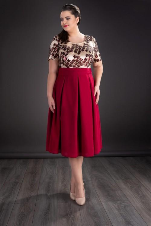 Rochie eleganta bordo Amy
