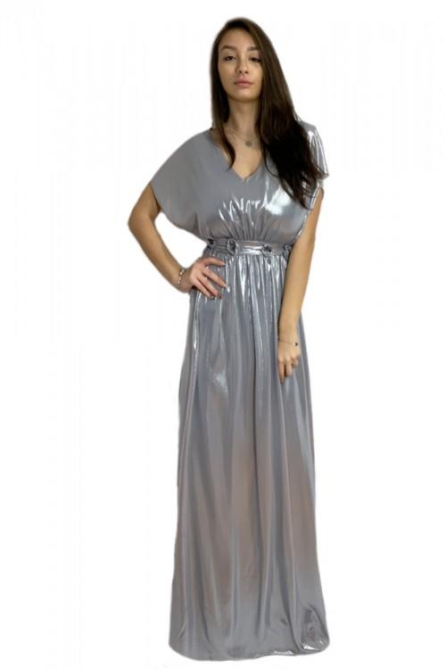 Rochie lunga argintie Mira