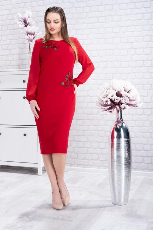 Rochie eleganta rosie cu...