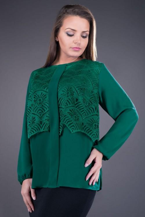 Bluza eleganta verde Ofelia