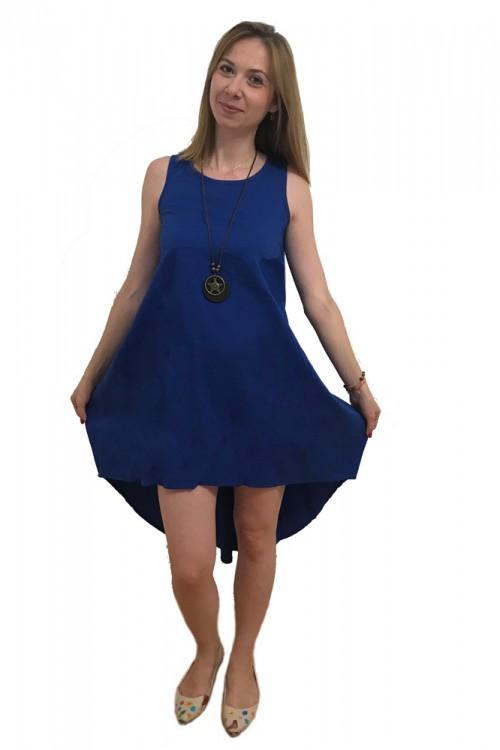 Rochie asimetrica albastru...
